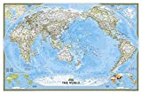 National Geographic Map Classic World, Pacific Centered, Planokarte