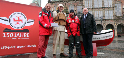 DGzRS stellte in Bremen ihr Jubiläumsprogramm für 150 Jahre Seenotretter vor. Foto: DGzRS