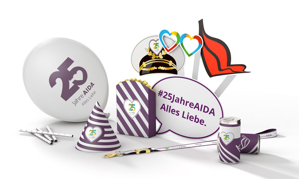 Happy Birthday Box für 25 Jahre AIDA