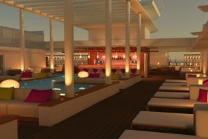 Patio Deck von AIDAprima. Foto: AIDA Cruises