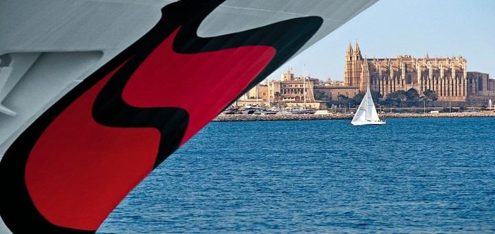 AIDA in Palma de Mallorca. Foto: AIDA Cruises