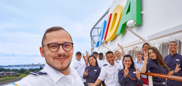 AIDA Crew mit Jobs an Bord