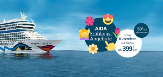 AIDA Frühlings-Angebote. Foto: AIDA Cruises