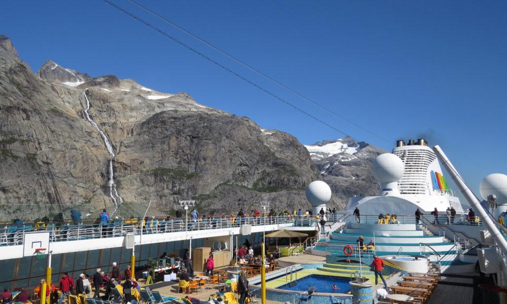 AIDA Sonnendeck auf Grönland