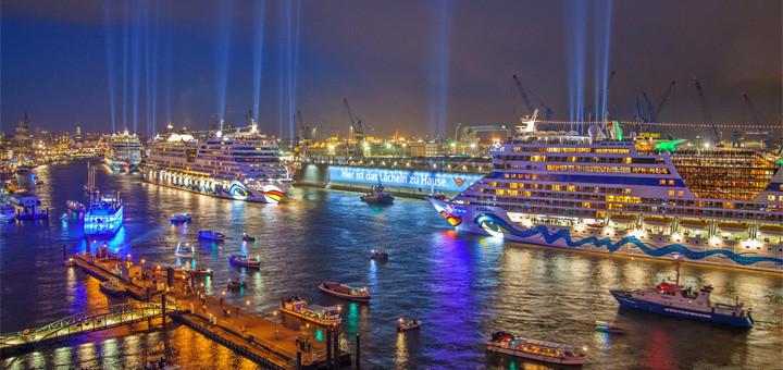 AIDA bei Blue Port in Hamburg. Foto: AIDA Cruises