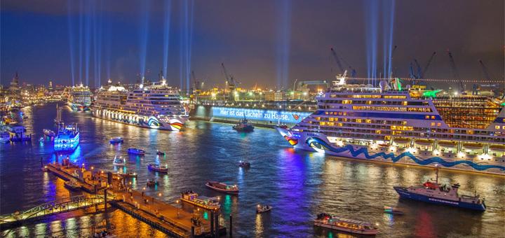 AIDA bei Blue Port in Hamburg. Foto: AIDA Cruises