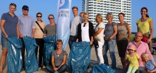 AIDA Freunde der Meere e.V. beteiligten sich am International Coastal Cleanup Day in Warnemünde. Foto: AIDA Freunde der Meere e.V.