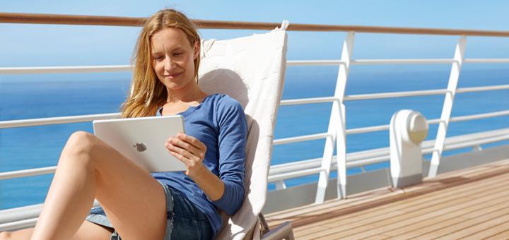 Auf AIDA im Internet surfen. Foto: AIDA Cruises