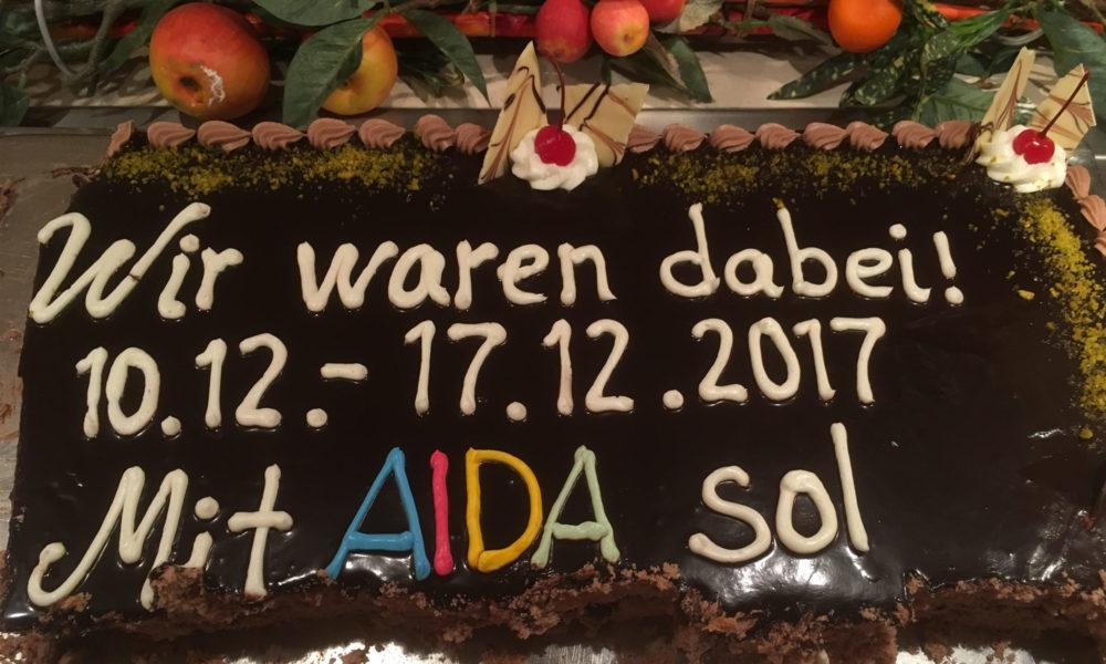 AIDA Torte auf AIDAsol