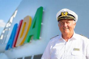 AIDA Kapitän Dr. Friedhold Hoppert. Foto: AIDA Cruises