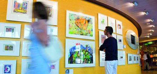 AIDA Kunstgalerie. Foto: AIDA Cruises