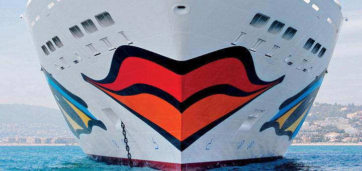 AIDA Kussmund von AIDAdiva. Foto: AIDA Cruises