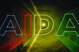 AIDA Lasershow an Bord. Foto: AIDA Cruises