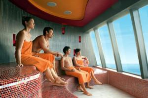 Saunalandschaft bei AIDA. Foto: AIDA Cruises