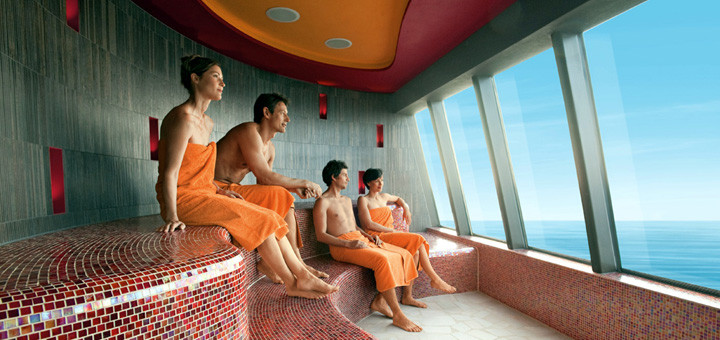 AIDA Saunalandschaft. Foto: AIDA Cruises