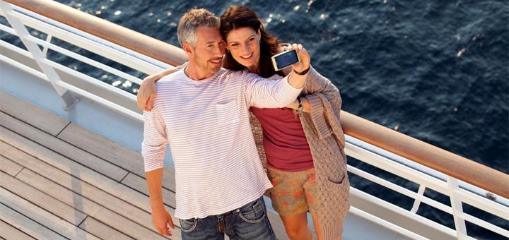 AIDA Selfie für Freunde und Familie. Foto: AIDA Cruises