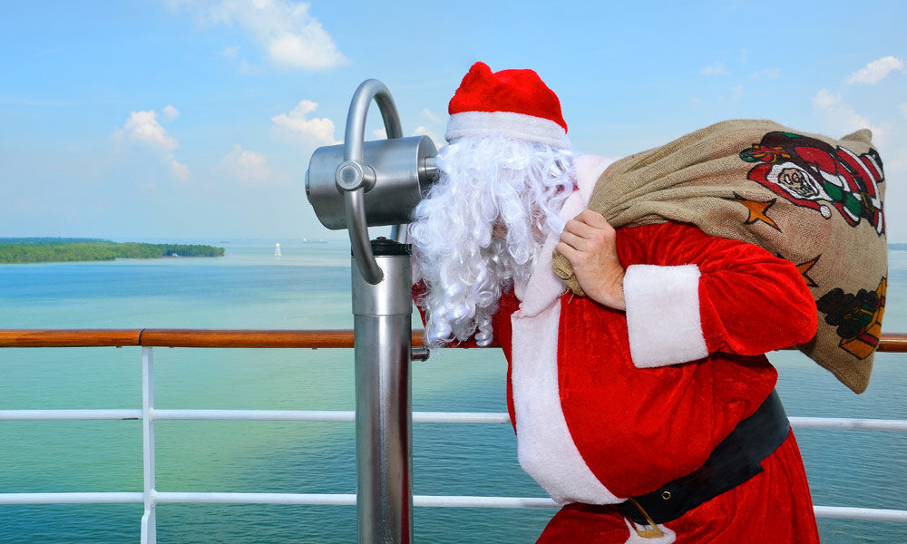 AIDA Weihnachtsmann an Bord. Foto: AIDA Cruises