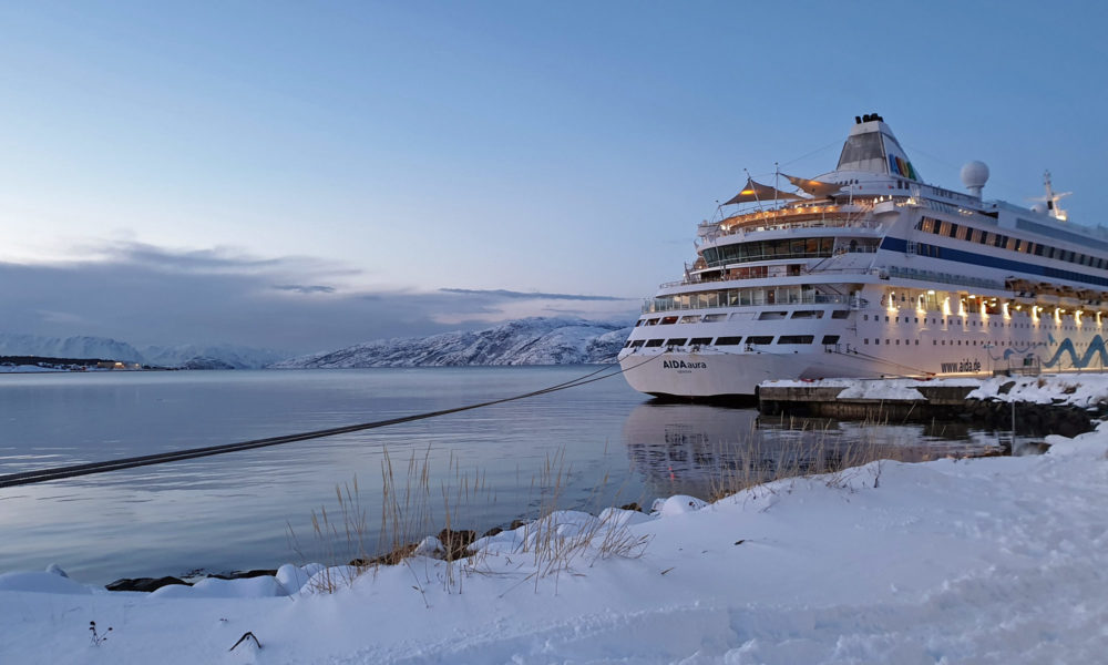 AIDA im Winter in Alta, Norwegen