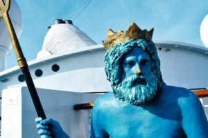 Neptun auf AIDAaura. Foto: AIDA Cruises