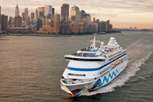 AIDAaura auf Kreuzfahrt in New York. Foto: AIDA Cruises
