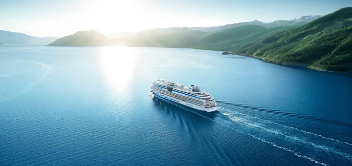 AIDAaura in Nordeuropa. Foto: AIDA Cruises