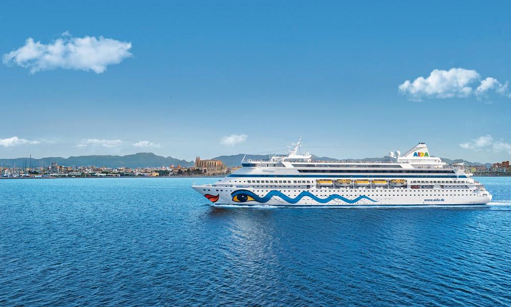 AIDAaura in Palma de Mallorca. Foto: AIDA Cruises