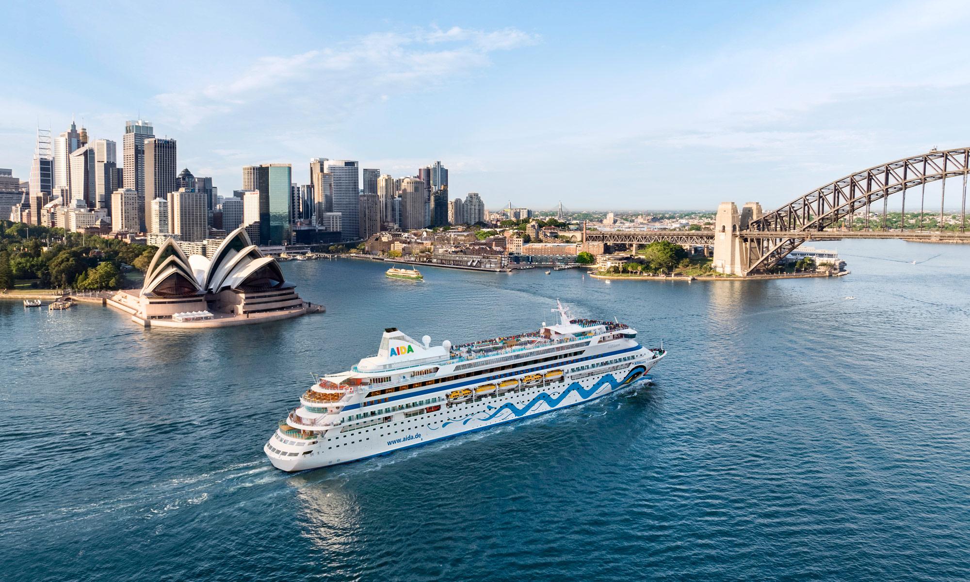AIDAaura in Sydney. Foto: AIDA Cruises