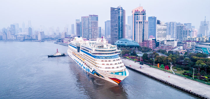 AIDAbella in Shanghai. Foto: AIDA Cruises