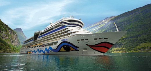 AIDAblu in Norwegen. Foto: AIDA Cruises
