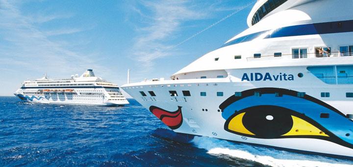 AIDAcara und AIDAvita. Foto: AIDA Cruises
