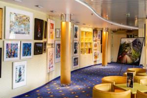 Kunstgalerie auf AIDAcara. Foto: AIDA Cruises