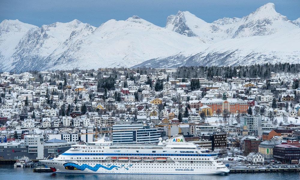 AIDAcara in Tromsø, Norwegen. Foto: AIDA Cruises