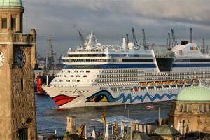 AIDAdiva in Hamburg. Foto: AIDA Cruises