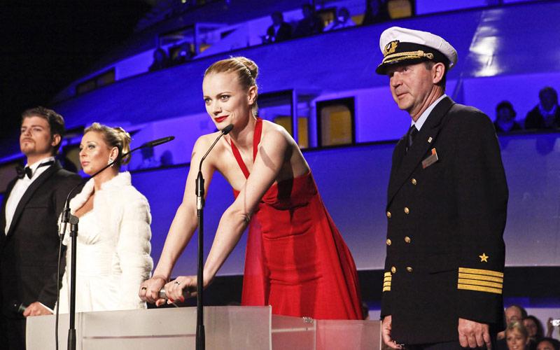AIDAluna Taufe mit Franziska Knuppe und Kapitän Lutz Leitzsch