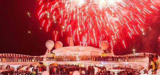 AIDA Feuerwerk. Foto: AIDA Cruises