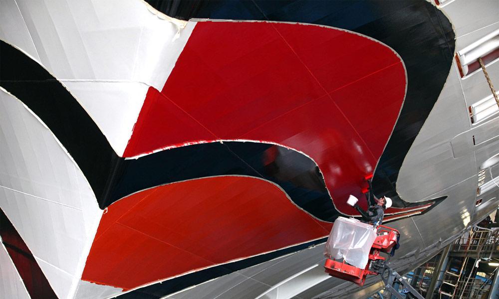Kussmund von AIDAmar auf der Meyer Werft