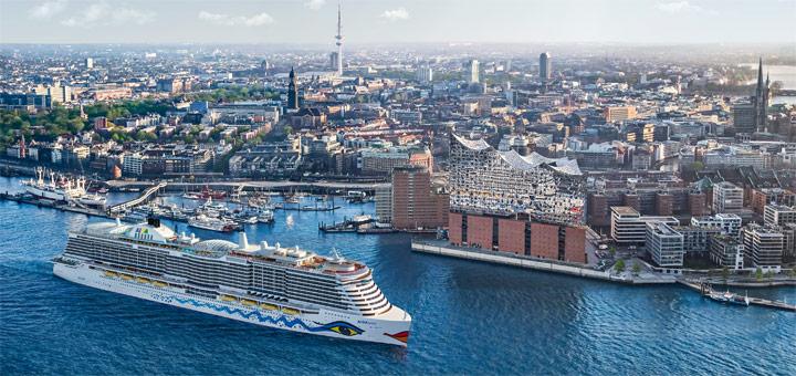 AIDAnova in Hamburg. Foto: AIDA Cruises