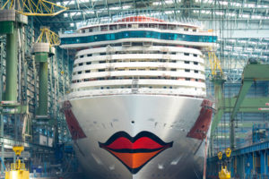 AIDAnova auf der Meyer Werft in Papenburg. Foto: AIDA Cruises