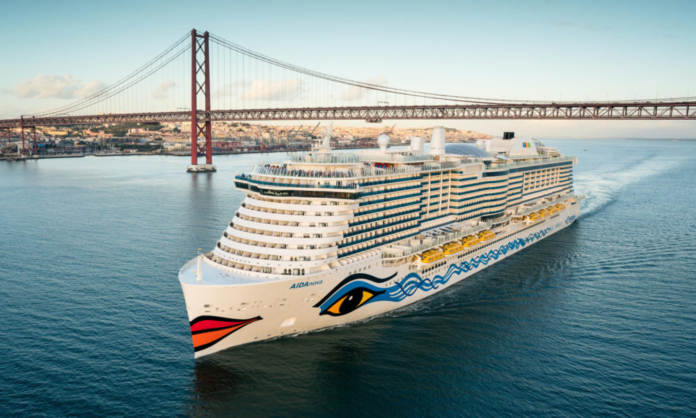 AIDAnova in Lissabon. Foto: AIDA Cruises