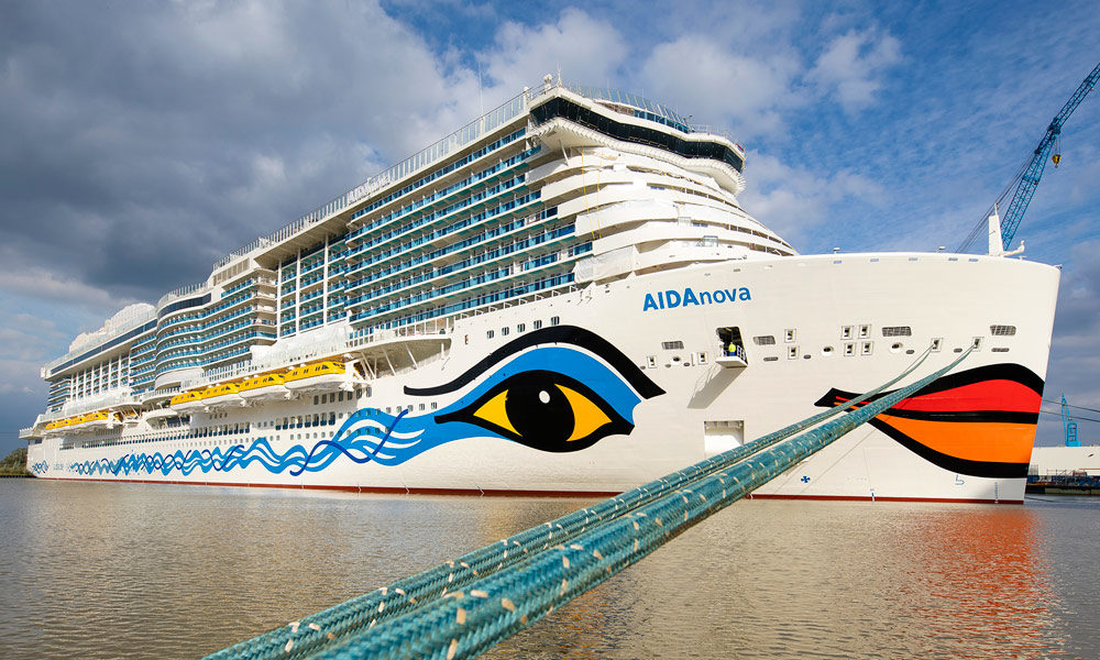 AIDAnova in Papenburg. Foto: Meyer Werft