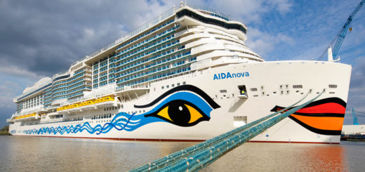 AIDAnova in Papenburg. Foto: Meyer Werft