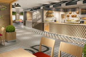 AIDAnova Streetfood Plaza. Foto: AIDA Cruises