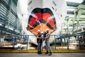 AIDAnova Tauffamilie Mirza. Foto: AIDA Cruises