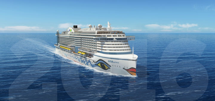 Neu in 2016: AIDAprima. Foto: AIDA Cruises