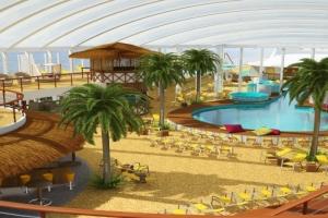 Beach Club von AIDAprima. Foto: AIDA Cruises