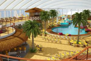 Beach Club auf AIDAprima. Foto: AIDA Cruises