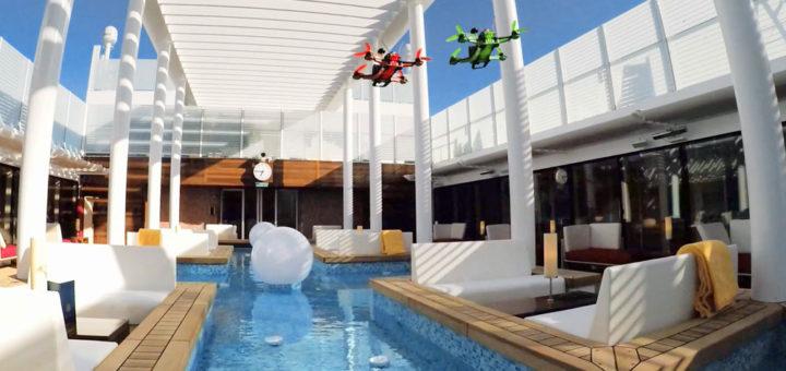 Drohnenrace auf AIDAprima. Foto: AIDA Cruises