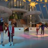 Eisbahn auf AIDAprima. Foto: AIDA Cruises