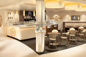 Eiscafé auf AIDAprima. Foto: AIDA Cruises