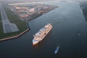 AIDAprima zum Erstanlauf in Hamburg. Foto: AIDA Cruises